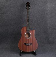 Wholesale oem acoustic guitars resale online - standard Can be OEM inch Sapele acoustic guitar novice beginner acoustic guitar practice piano
