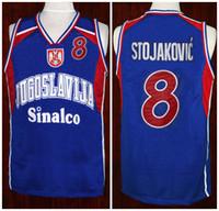 2446d9735563  8 Peja Stojakovic Team Jugoslavija Yugoslavia Retro Classic Basketball  Jersey Mens Stitched Custom Number and name Jerseys
