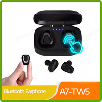 A7 TWS Wireless Bluetooth Earphone Stereo bass Headset Hands free Sport Bluetooth Earpod For xiaomi huawei Phone PK i10 tws X2T