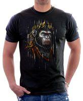 moda do amanhecer venda por atacado-César alvorecer do planeta dos macacos t-shirt preta 9626 homens 2018 moda marca camiseta o pescoço 100% algodão