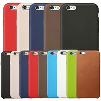 Wholesale apple iphone 5s original leather case online – custom Have LOGO Original Official PU Leather Case Anti shock Protection Hard Cover Cases For Apple iPhone Pro Max XS XR X S Plus S