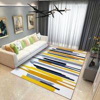 kinderbereich teppiche großhandel-10 farben anti-slip weiche geometrische muster carpet große größe home teppiche baby boden krabbeln matte für wohnzimmer kinder schlafzimmer