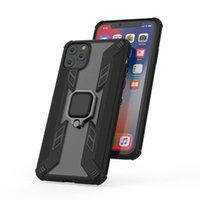 Wholesale iphone 7 plus car phone holder online – Metal Car Ring Holder Silicone Phone Case For IPhone Back Coque Case magnet Cover for iphone Pro XS max XR plus