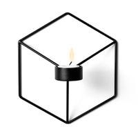 ingrosso portacandele per matrimoni-Portacandele da parete in metallo a forma di candelabro 3D per matrimoni