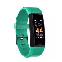 Wholesale anti monitor resale online - XANES Plus Color Screen IP67 Waterproof Smart Watch Anti lost Blood Pressure Oxygen Monitor Sports Fitness Bracelet Red