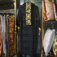 горячая одежда женщин бренда хлопка оптовых-Дизайнерский бренд унисекс халат халат хлопок сна ночь халат высокое качество комфортной роскоши халат дышащая женская одежда очень жарко klw1739