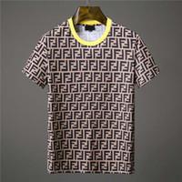 italienische modekleidung großhandel-HOT O-Neck Mode Sommer T-Shirt Kurzarm Herren italienischen Designer Casual T-Shirt Tops bedruckt dünnes Hemd Herrenbekleidung