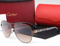 beste fahren sonnenbrille großhandel-Die meistverkaufte randlose Sonnenbrille für Damen aus Holz und Naturbüffelhorn Sunglasse Herren Driving Shade Eyewear Designer Brillen Sun Glass