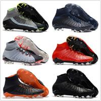 cr7 listones blancos jóvenes al por mayor-Nike football boots FG tacos de fútbol Hypervenom Phantom III DF zapatos de fútbol neymar IC botas de fútbol tacos zapatos de fútbol para hombres baratos