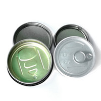 Wholesale tin caps for sale - Group buy 3 G Tin Cans Press Sealed Sealing Lid Cover for Dry Herb Flowers Pressed Cap Bottom Smartbud Smart BUD Carts Organic Cali Diamond