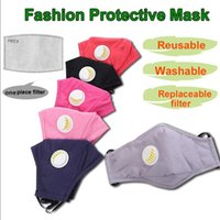 Wholesale anti dust fabric for sale - Group buy Reusable Unisex Cotton Face Masks With Breath Valve PM2 Mouth Mask Anti Dust Fabric Mask Washable Mask With respirator free Filter