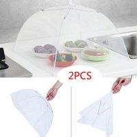 ingrosso ombrello zanzara-2 grande schermo Pop-Up Mesh proteggere gli alimenti di copertura tenda a cupola Net Umbrella picnic Cucina Piegato Mesh Anti Mosquito Fly Umbrella