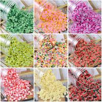 unhas de crianças venda por atacado-Cerâmica macio Adição macio Fimo Fruit Slices Para Slime Fluffy Lizun DIY Nail Móvel Suprimentos Slime Acessórios Kits para crianças