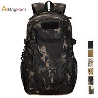 camuflagem mochila ao ar livre venda por atacado-Tactical Mochila de Nylon 25L Sports Bag Camuflagem Campo Trekking Pack Ao Ar Livre de Viagem Trepar Escalada Caminhadas Mochilas