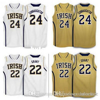 Wholesale fighting irish jersey resale online - Pat Connaughton Jerian grant Notre Dame Fighting Irish basketball Jersey Stitched Customized Any Name And Number NCAA