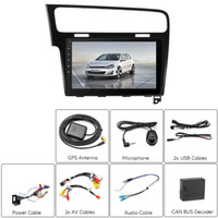 Wholesale wifi car stereo hd for sale - Group buy One DIN Car Stereo for VW Golf Android GPS Bluetooth WiFi G G Octa Core CPU Inch HD Display CAN BUS