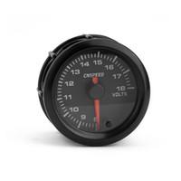 12v voltmeter für auto großhandel-Auto Universal Modifikation 12V Voltmeter 2 Zoll (52mm) Rennwagen Voltmeter Hintergrundlicht buntes Auto Instrument