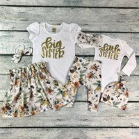 Wholesale big sister clothing resale online - PUDCOCO Baby Girl Little Big Sister Match Clothes Romper T shirt Pants Tutu Dress Outfit