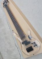 Wholesale customize bass guitar online - Acrylic Glass Bass Electric Guitar with Jacaranda Arm Strings Frets Black Hardwareoffering Customized Service