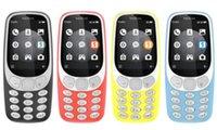 telefone 2g desbloqueado venda por atacado-Recondicionado Original Nokia 3310 2017 3G WCDMA 2G GSM 2.4 Polegada Câmera de 2MP Dual Sim Desbloqueado Telefone Móvel