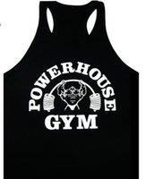 ingrosso migliori marche di attrezzature fitness-Mens canotte Bodybuilding attrezzature per il fitness di marca Canotte uomo serbatoio Camicie Abbigliamento