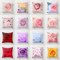 Wholesale black flowered bedding for sale - Group buy mylb x45cm Pillowcase D Rose Printed Pillow case Pillow Cover Throw Case Living Room Bed Room Flower Peony