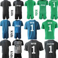 clubes de futbol de italia al por mayor-Custom Italy Club Kids 2019 2020 porteros Equipos de fútbol 1.BUFFON 1. SZCZESNY Juventud Juvenil Camisetas de fútbol camisa de futebol