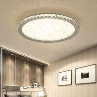 lámparas de techo sala de estar al por mayor-Moderna lámpara de techo de cristal Luces Iluminación para el hogar llevó la lámpara de salón dormitorio plafonnier LED redondo para lámparas de techo accesorios Lampadari 110V-240V