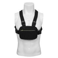 göğüs dolaşımı paketleri toptan satış-Spor Koşu Göğüs Rig Taktik Cep Telefonu Tutucu Çanta Omuz Çantası Paketi Durumda Açık Koşu Kamp Yürüyüş Siyah Naylon