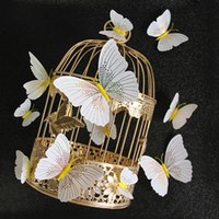 Wholesale butterfly wedding package for sale - Group buy Ambilight D Butterfly Wall Sticker Butterflies home decoration room decor Fridge Magnet wall stickers for wedding
