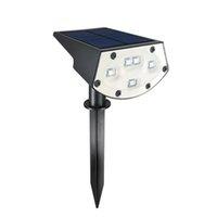 çok spot toptan satış-Güneş Spotlight Açık, Su geçirmez 20 LED Çok Renkli Güneş Güvenlik Peyzaj ışıkları, Ayarlanabilir Açı Bahçe Duvarı Çim Lambası Powered