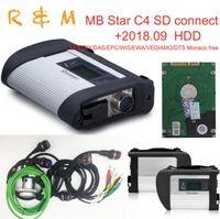 das mb star c4 sd connect al por mayor-C4 star escáner de diagnóstico mb star c4 sd connect multiplexor DAS Xentry wis epc software MB sd vediamo envío gratis
