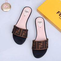 zapatillas de baloncesto al por mayor-Ff Mujer Zapatillas de alta calidad Sandalias de marca Zapato plano Zapatos de diseñador Zapatos de baloncesto deslizar Zapatos casuales Chanclas por zapato