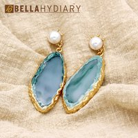 Wholesale fake accessories resale online - Hot Fancy Golded Wedding Resin Fake Pearl Earrings Drop Earrings For Women Jewelry Statement Gifts For Women Accessories Brinco