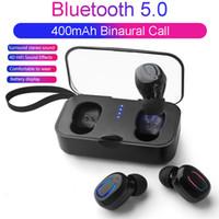 micrófono para auriculares de juego al por mayor-Ti8s Tws Auriculares Inalámbricos Bluetooth 5.0 Auriculares Deportes Manos libres Auriculares Gaming Headset Teléfono 500mAh Cargador Estuche con micrófono