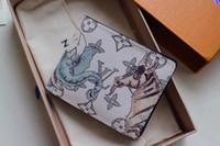schwarze metall ecken großhandel-Top Qualität Elefant Geldbörsen für Männer aus echtem Leder quadratische Geldbörse Kartenhalter Frauen mit Box M66207