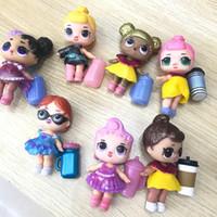 ingrosso neonata diy-Bambole LOL Giocattoli fai da te Bambole a sorpresa Bambole modello Romdan Contiene bambola Bottiglia vestiti Scarpe Occhiali o Copricapi Completi giocattoli per bambini LOL