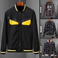 chaqueta de contraste masculino al por mayor-davi24 Nuevo diseñador de moda para hombre chaquetas de manga larga con cremallera ropa masculina algodón de alta calidad para hombre chaquetas de lujo outwear tamaño M-3XL