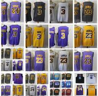 Wholesale best breathable shirts for sale - Group buy 2020 New Anthony Davis Jerseys LeBron James Kobe Bryant Kyle Kuzma Stitched Best Quality Baskeball Jerseys Shirts