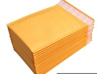 envelopes de papel kraft venda por atacado-Kraft Bolha Mailers Acolchoados Envelopes Bolha para Ebay Paypal Envelopes de Envio Destrutiva Aberto Auto-selante Poly Bolha Papel Kraft