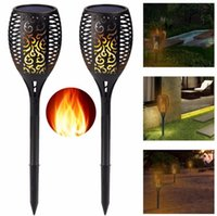 Solar Torch Lamp Light LED Solar Torches Lights Garden Outdoor Flame Path Dancing Flickering Lawn Light Waterproof Landsacpe Decor B5610