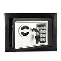 Wholesale electronic safes for sale - Group buy Mini Digital Steel Electronic Cash Box Safe Keyboard Lock Bill Jewelry Key Box Home Safe US Stock