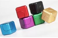 aluminium-würfel großhandel-Neue hochwertige bunte kreative Aluminium Zauberwürfel Finger Spinner Finger Gyro Fabrik Fingerspitzen Druck Spielzeug