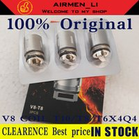 Wholesale v8 q4 coil for sale - Group buy 100 Authentis V8 Coil Head V8 T8 V8 T6 V8 Q4 V8 X4 V8 T10 Turbo V8 RBA Replacement Coils For V8 Cloud Beast Tank Genuine