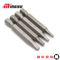 Wholesale s3 tools for sale - Group buy 4pcs mm Square Bit Set quot mm Hex Shank Electric Screwdriver Bit Kit Household Repair Tools S0 S1 S2 S3 Power Tools