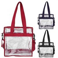 bolsas de maquillaje transparente al por mayor-Bolsa de maquillaje de PVC transparente Bolsa de maquillaje de viaje Bolsa de almacenamiento de artículos diversos