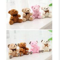 Wholesale stuffed animals resale online - 1PC CM Cute Teddy Bears Plush Toys Stuffed Animals Fluffy Bear Dolls Bag Keychain Car Key Holder for Pendant Doll Gift