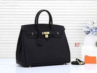 Wholesale designer totes bags resale online - designer handbags H K women designer purse litchi pattern pu leather women fashion totes purses bag