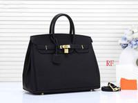 tragetaschen großhandel-Designer Handtaschen H K Frauen Designer Geldbörse Litschi Muster PU Leder Frauen Mode Totes Geldbörsen Tasche