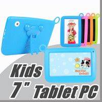 Wholesale JT Kids Brand Tablet PC quot Quad Core children tablet Android Allwinner A33 google player wifi big speaker protective cover M PB